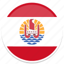 circle, flag, flags, french, polynesia, round icon
