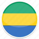 circle, flag, flags, gabon, round icon