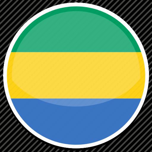 circle, flag, flags, gabon, round icon