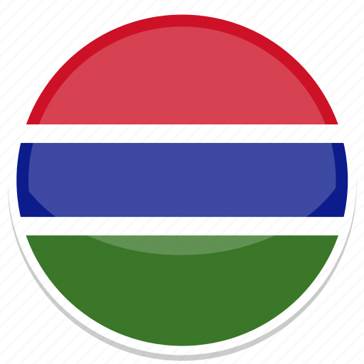 circle, flag, flags, gambia, round icon