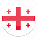 circle, flag, flags, georgia, round icon