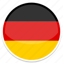circle, flags, flag, round, germany
