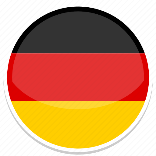 circle, flag, flags, germany, round icon