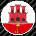 circle, flag, flags, gibraltar, round icon