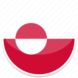 circle, flag, flags, greenland, round icon