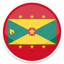 circle, flag, flags, grenada, round icon