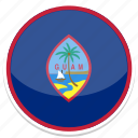 circle, flag, flags, guam, round icon