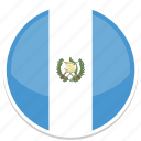 circle, flag, flags, guatemala, round icon