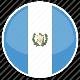 circle, flag, flags, guatemala, round icon