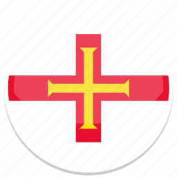 circle, flag, flags, guernsey, round icon