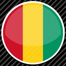circle, flag, flags, guinea, round icon