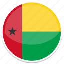 bissau, circle, flag, guinea, round icon