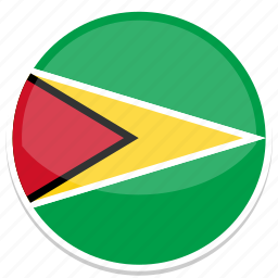 circle, flag, flags, guyana, round icon