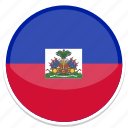 circle, flag, flags, haiti, round icon
