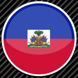 circle, flag, flags, haiti, round icon