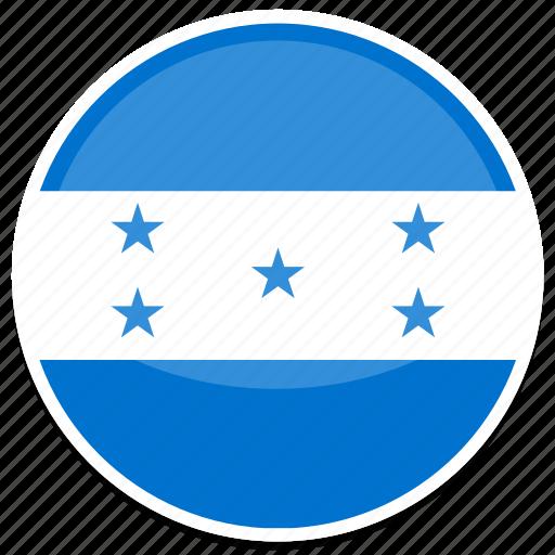 circle, flag, flags, honduras, round icon