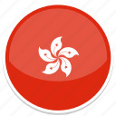 circle, flag, flags, hong, kong, round icon