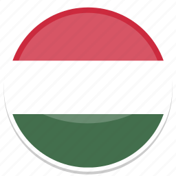 circle, flag, flags, hungary, round icon