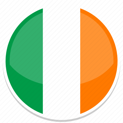 circle, flag, flags, ireland, round icon