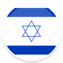 circle, flag, flags, israel, round icon