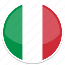 circle, flag, flags, italy, round icon