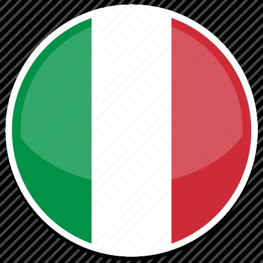 circle, flag, flags, italy, round icon