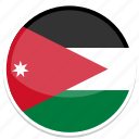 circle, flag, flags, jordan, round icon