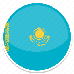 circle, flag, flags, kazakhstan, round icon