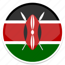 circle, flag, flags, kenya, round icon
