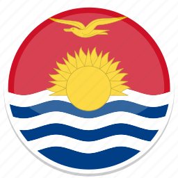 circle, flag, flags, kiribati, round icon