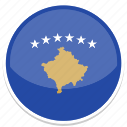 circle, flag, flags, kosovo, round icon