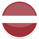circle, flag, flags, latvia, round icon