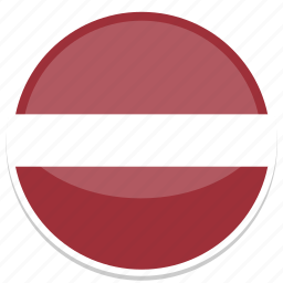 circle, flag, flags, latvia, round icon
