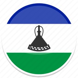 circle, flag, flags, lesotho, round icon