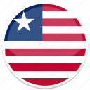 circle, flag, flags, liberia, round icon
