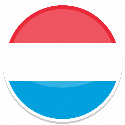 flag, flags, luxembourg, round icon