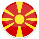 circle, flag, flags, macedonia, round icon