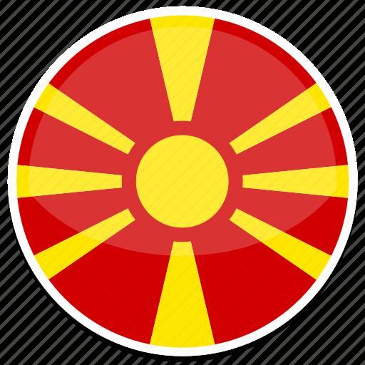 Image result for north macedonia circle flag