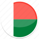 circle, flag, flags, madagascar, round icon