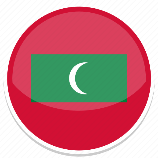 circle, flag, flags, maldives, round icon