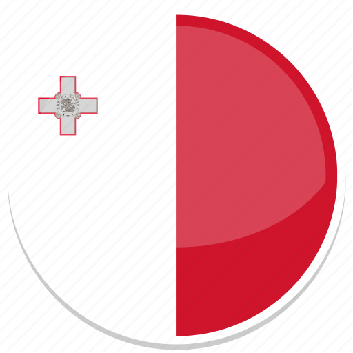 circle, flag, flags, malta, round icon