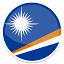circle, flag, islands, marshall, round icon