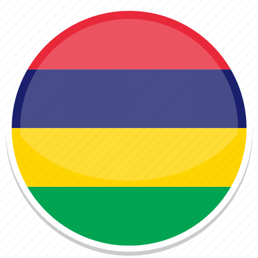 circle, flag, flags, mauritius, round icon