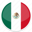 circle, flag, flags, mexico, round icon