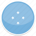 circle, flag, flags, micronesia, round icon