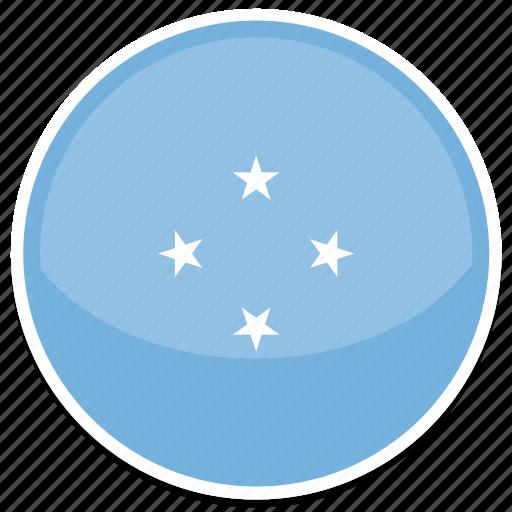 circle, flag, flags, micronesia, round icon