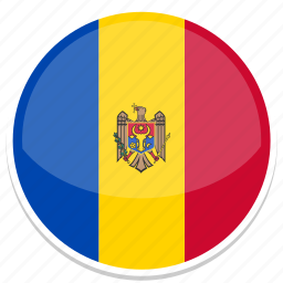 circle, flag, flags, moldova, round icon