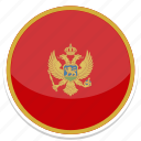 circle, flag, flags, montenegro, round icon
