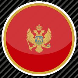 circle, flag, flags, montenegro, round icon
