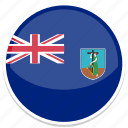 circle, flag, flags, montserrat, round icon
